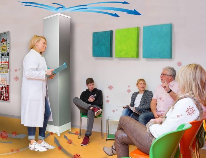 Wartezimmer mit IC Air