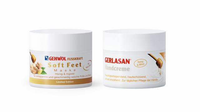 Honigsanft: GEHWOL präsentiert Relax-Maske für Füße und Beine, GERLASAN Handcreme